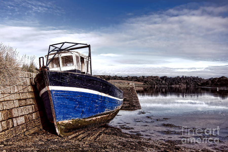 Boat Photograph - Retired Boat by Olivier Le Queinec