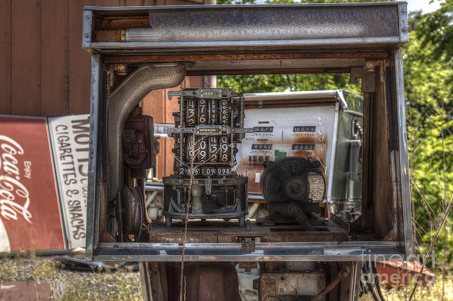 2014 Photograph - Retired Gas Pump by Larry Braun