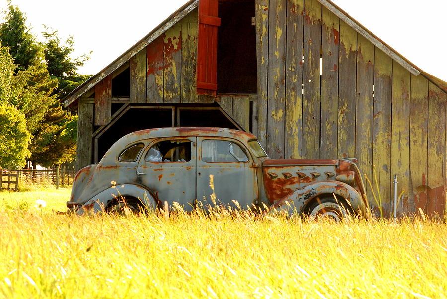 Rustic Photograph - Retired Joyride by Mamie Gunning