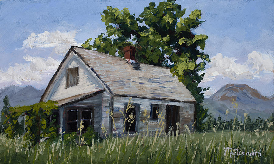 Farmhouse Painting - Retired by Mary Giacomini