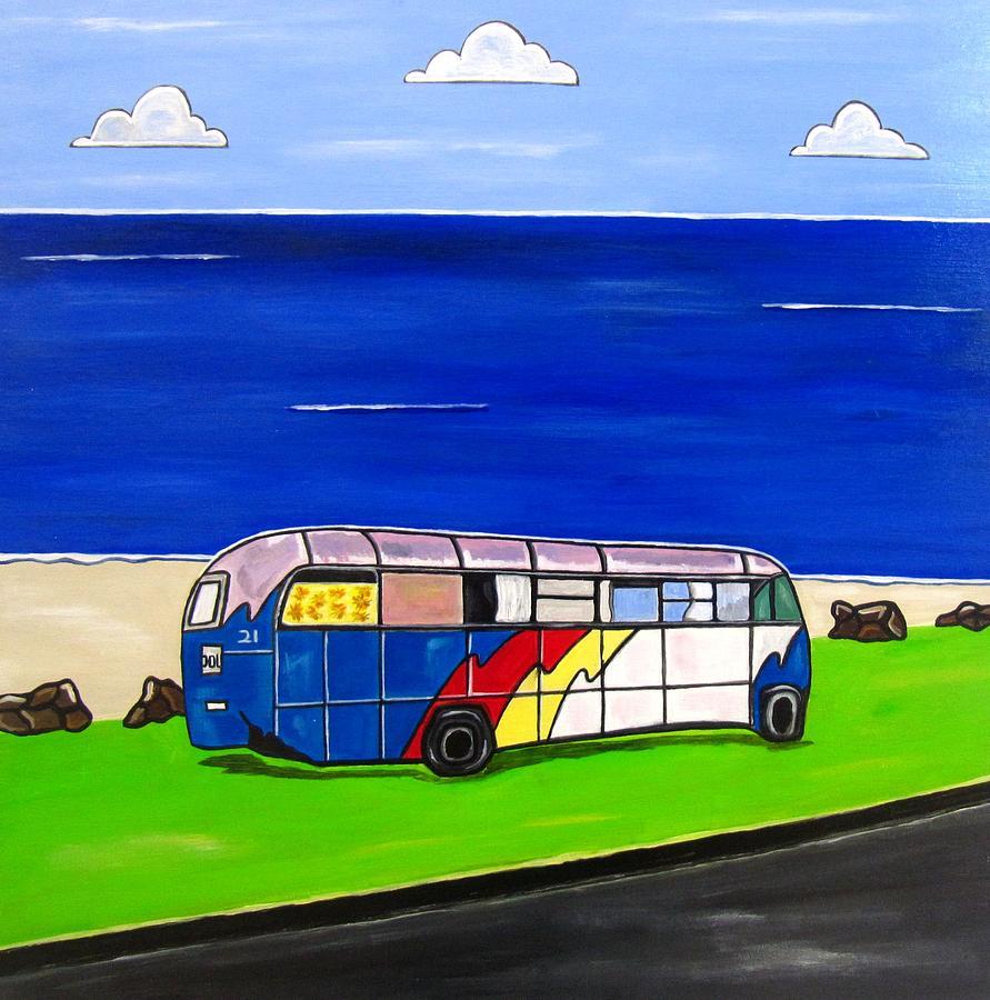 Beach Scenes Painting - Retired by Sandra Marie Adams