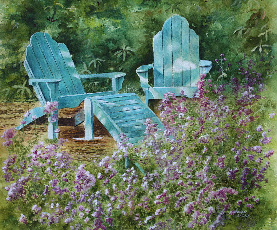 Peaceful Scene Painting - Retirement II by Patsy Sharpe