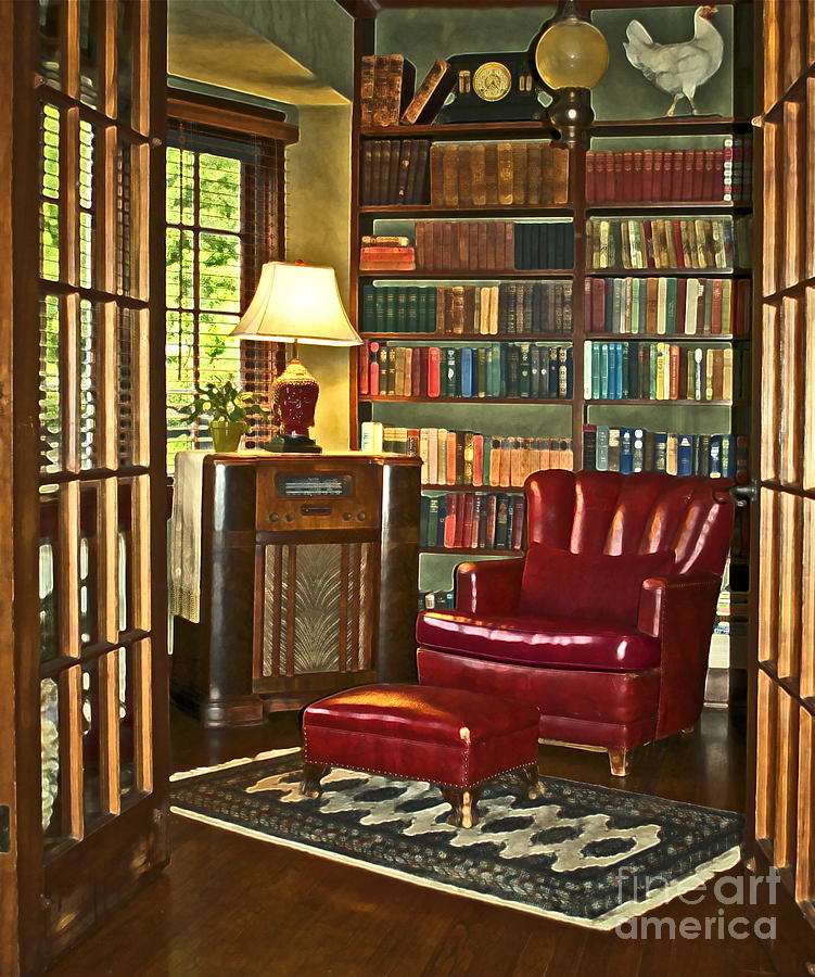Library Photograph - Retreat by Gwyn Newcombe