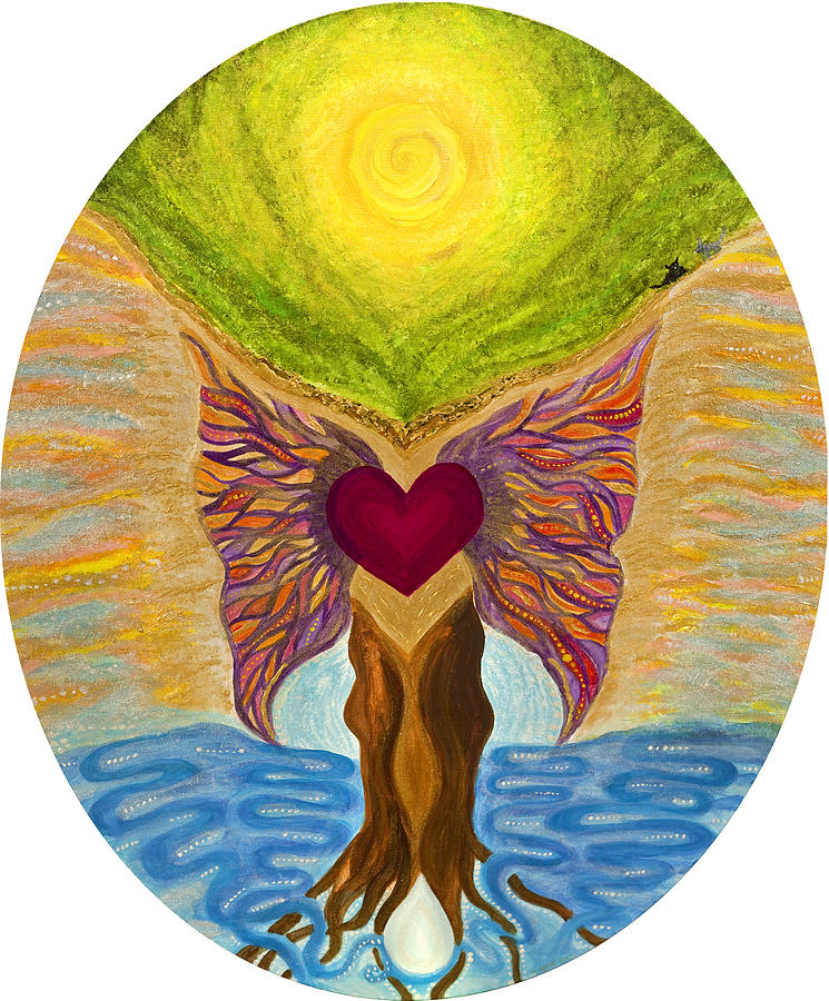 Heart Painting - Retreat Of The Sacred by Wisper Krimmer
