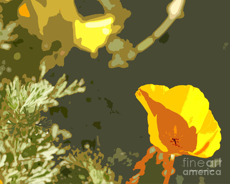 Abstract California Poppies Photographs Canvas Prints Photograph - Retro Abstract Poppies 4 by Artist and Photographer Laura Wrede