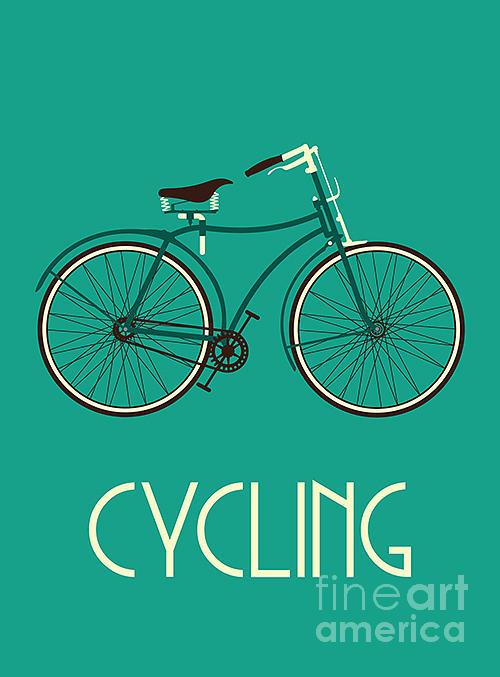 Bicycle Digital Art - Retro Bike Poster by Negovura
