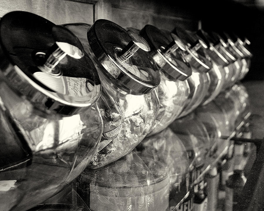 Retro Photograph - Retro Candy Jars by Dick Wood