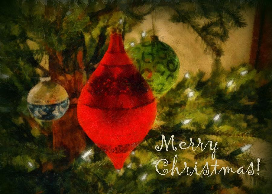 Merry Christmas Photograph - Retro Christmas by Michelle Calkins