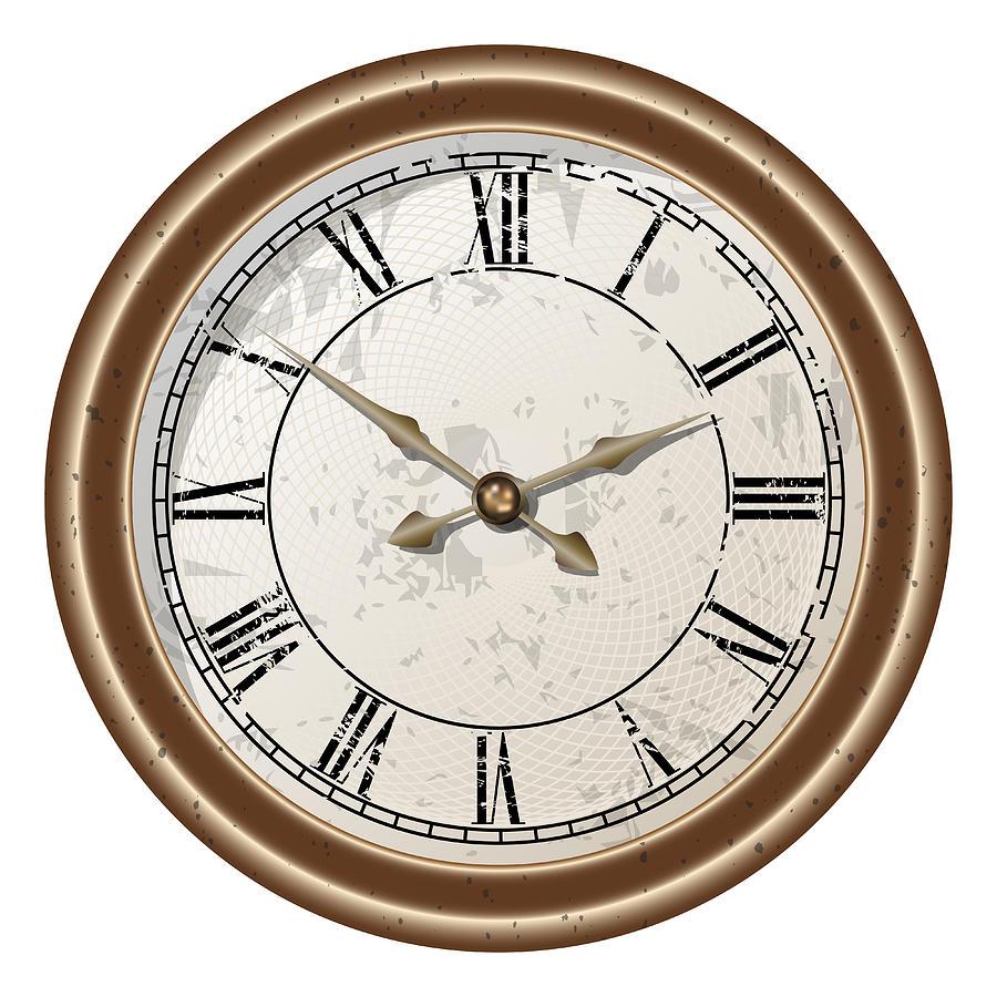 Illustration Digital Art - Retro Clock by Volodymyr Horbovyy