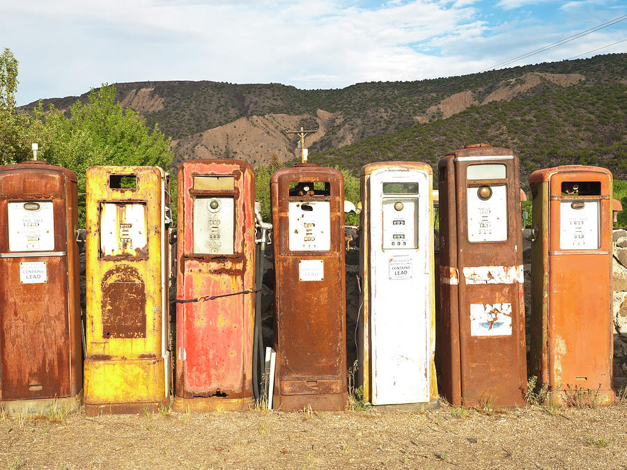 Retro Gas Pumps In Outdoor Museum Nm Photograph by Helovi