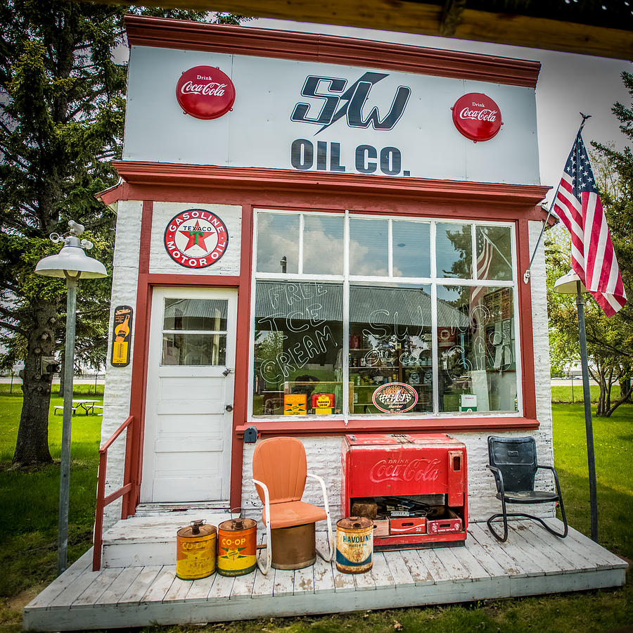 Mancave Photograph - Retro Gas Station by Paul Freidlund