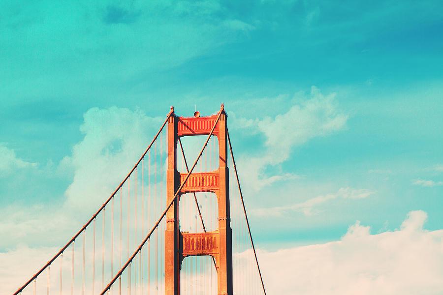 San Francisco Photograph - Retro Golden Gate - San Francisco by Melanie Alexandra Price