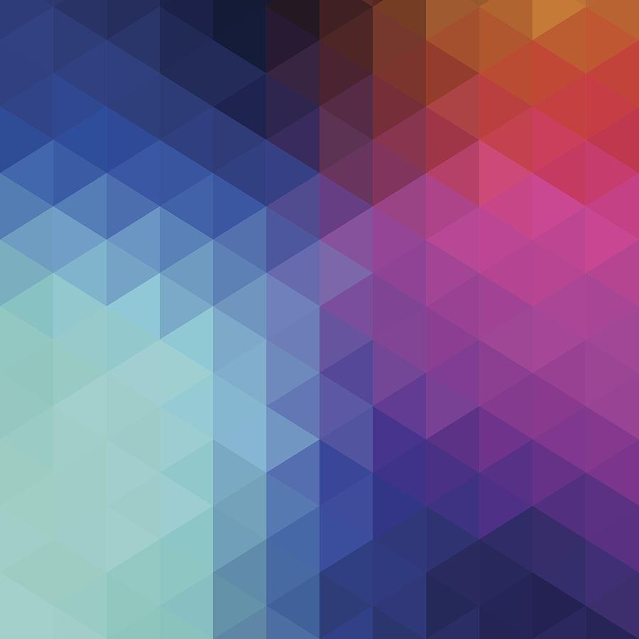 Retro Hexagon Abstract Background Digital Art by Mustafahacalaki