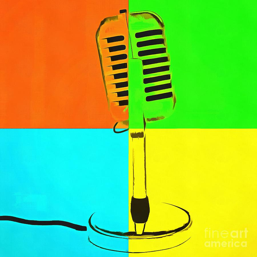 Retro Microphone Pop Art 2 Photograph