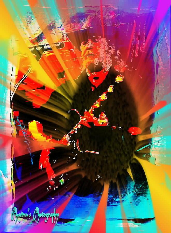 Guitar Photograph - Retro Rocker by Sadie Reneau