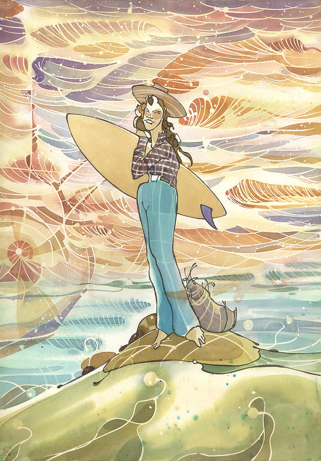 Retro Surfer by Harry Holiday
