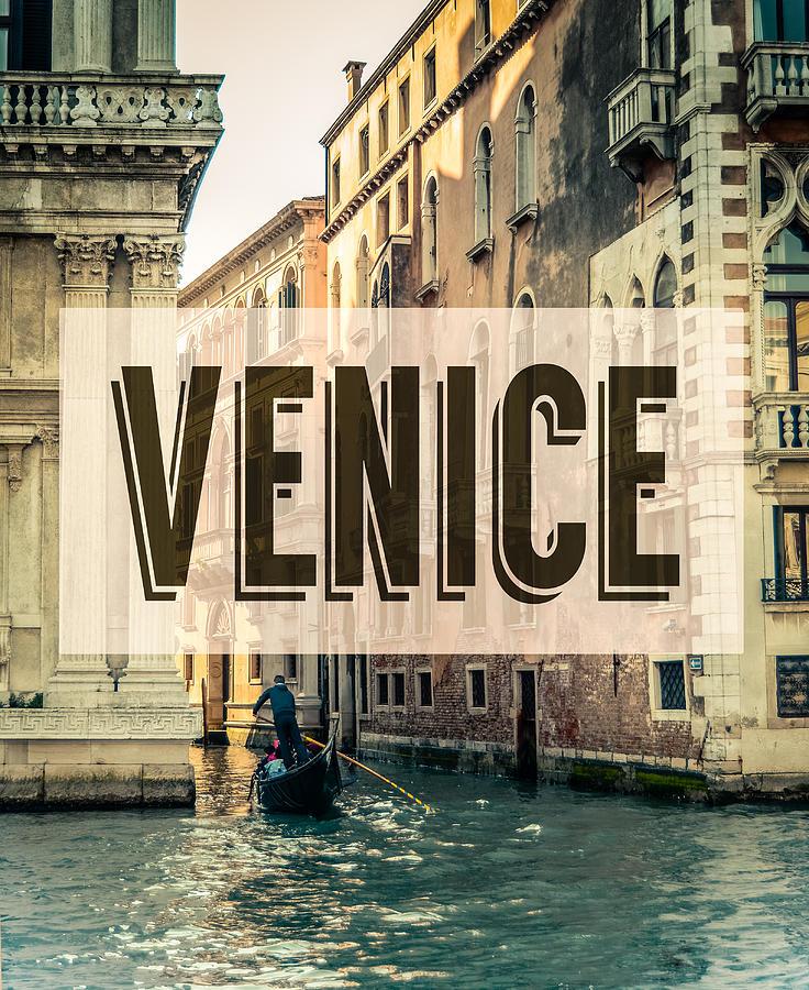 Retro Venice Grand Canal Poster Photograph