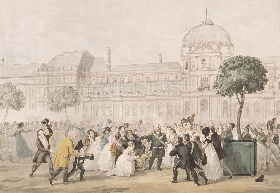 Return Of Louis Xviii 1755-1824 To Paris, 8th July 1815 Litho ...