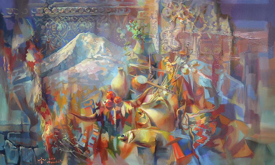 Original Painter Painting - Return To Ararat by Meruzhan Khachatryan