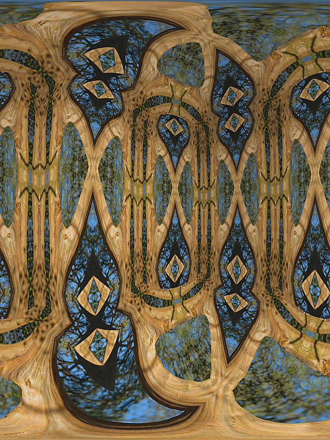 Psychedelic Digital Art - Return To Norwegian Wood by Wendy J St Christopher