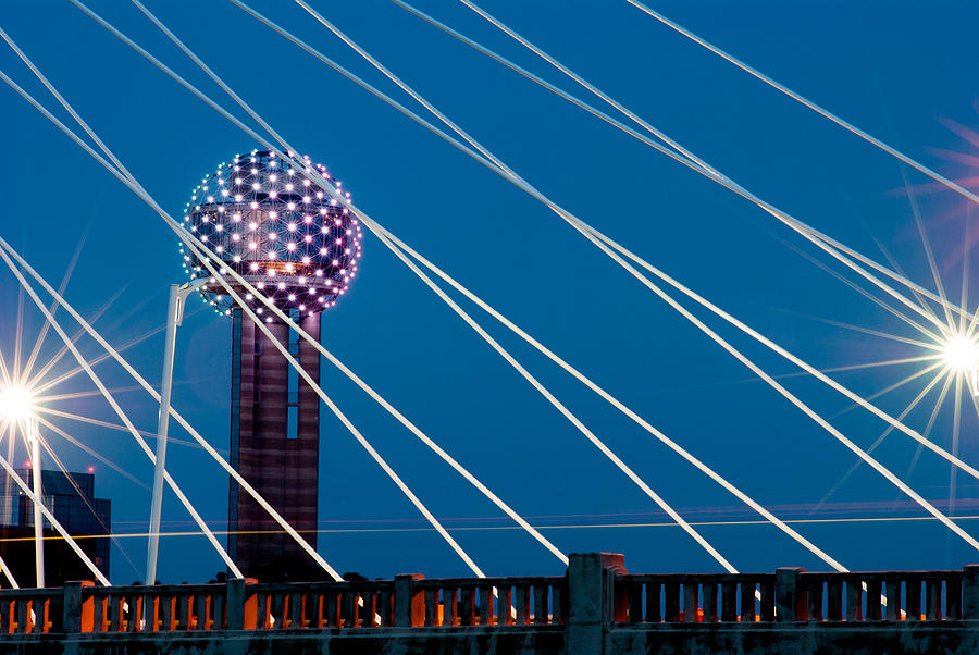 Abstract Photograph - Reunion Tower by Darryl Dalton