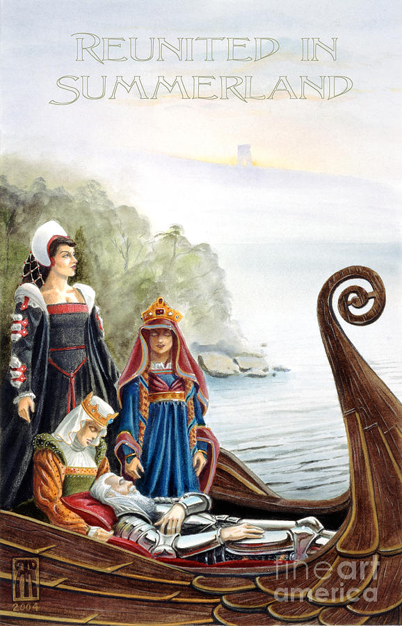 Wicca Painting - Reunited In Summerland by Melissa A Benson