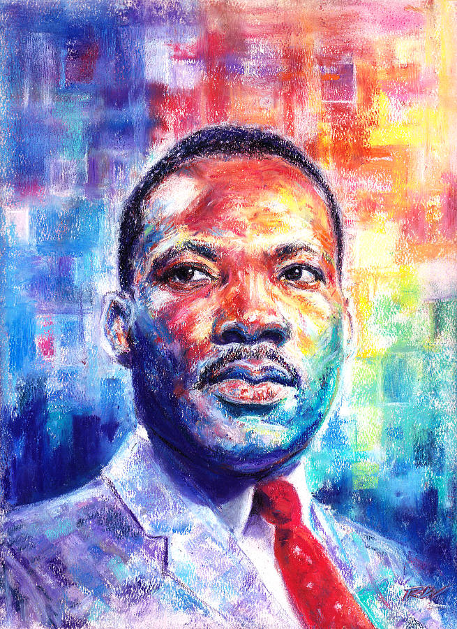 Rev Dr Martin Luther King Jr Pastel By Raymond Lee Warfield Junior