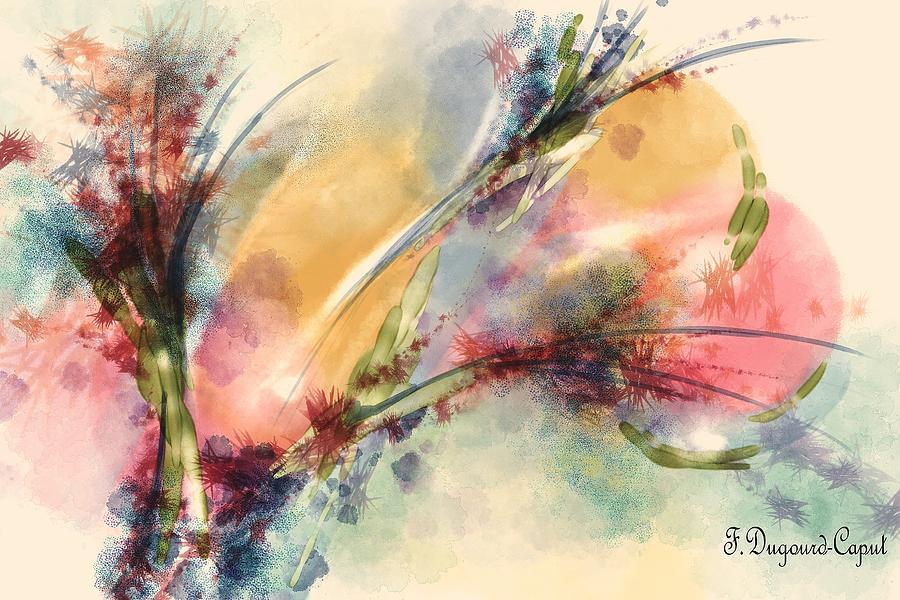 Digital Watercolor Painting - Reve by Francoise Dugourd-Caput