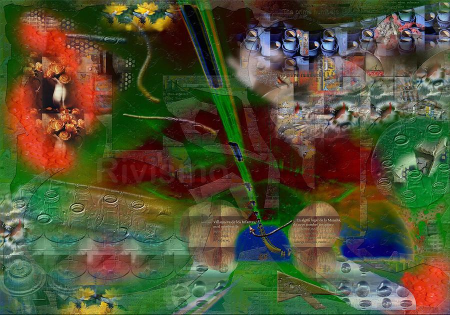 La Mancha Painting - Revelacion Entre Envases Y Flores by Ramon Rivas - Rivismo