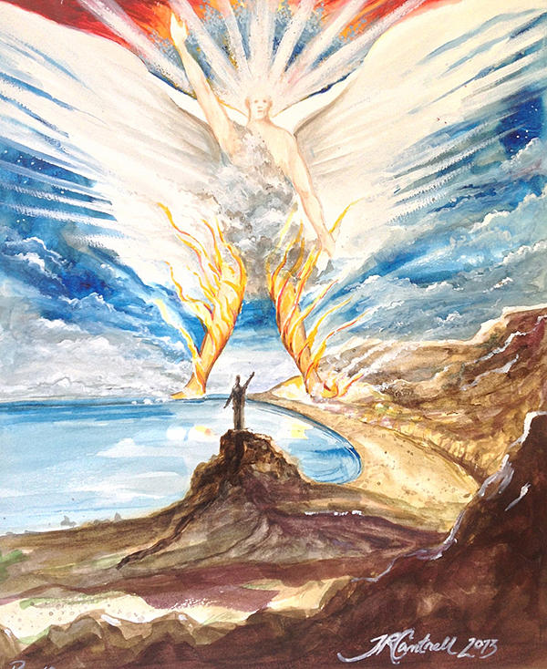 Revelation Painting - Revelation 10 Angel by Ron Cantrell