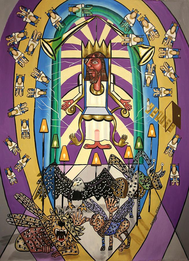 Jesus Painting - Revelation Chapter 4 by Anthony Falbo
