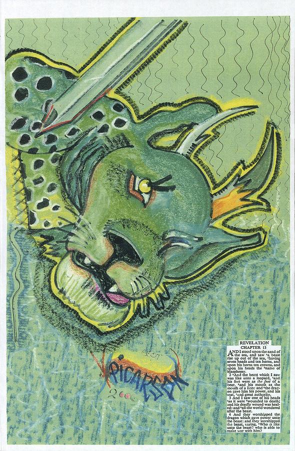Revelation Painting - Revelation  Thirteen The Beast by D Picarson