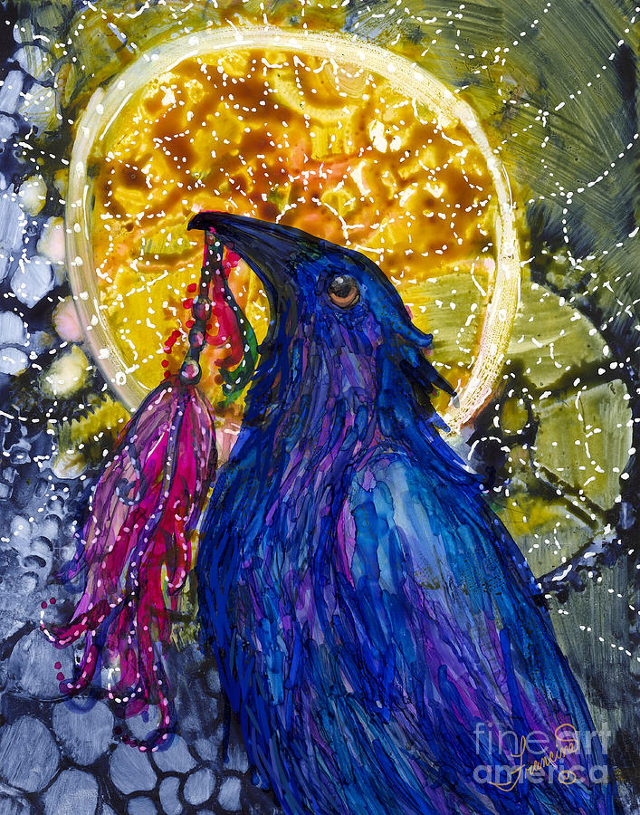 Reveling Raven by Francine Dufour Jones