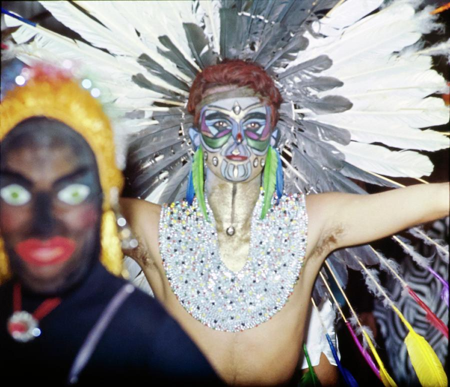 Revellers At Carnival In Rio De Janeiro Photograph by Henry Clarke