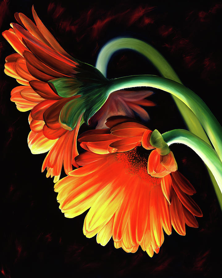 Flowers Painting - Reverence by Stephen Kenneth Hackley