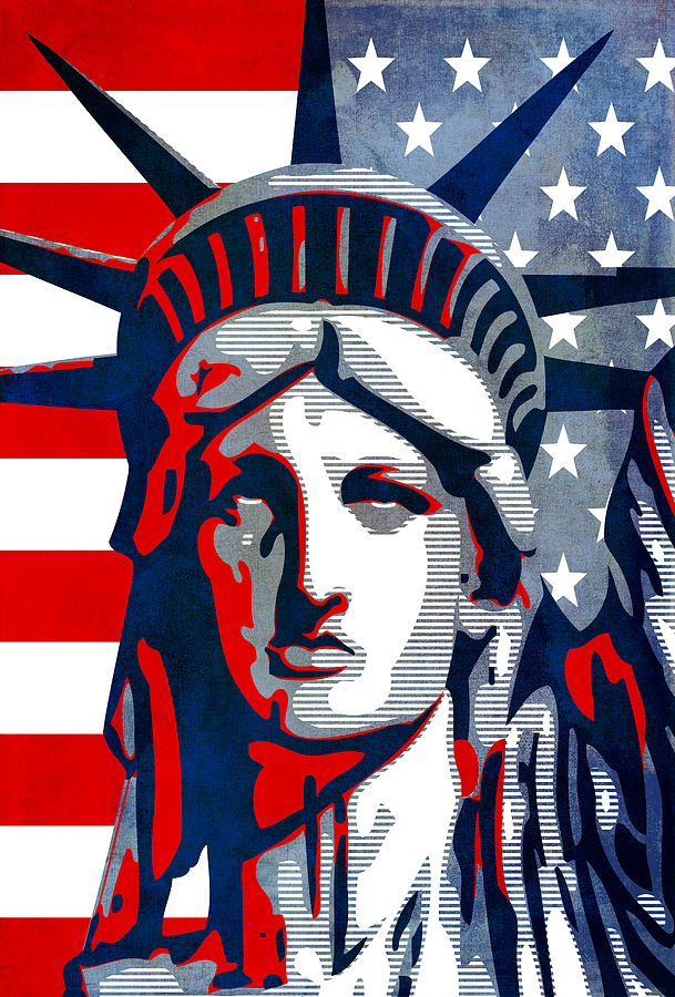 Reverse Mixed Media - Reversing Liberty 1 by Angelina Vick
