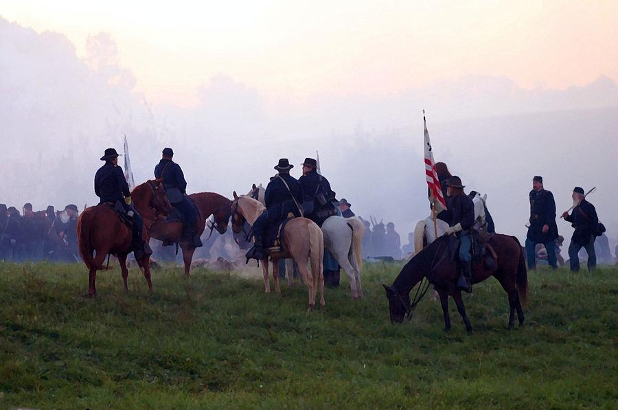 American Photograph - Reviewing The Troops - Perryville Ky  by Thia Stover