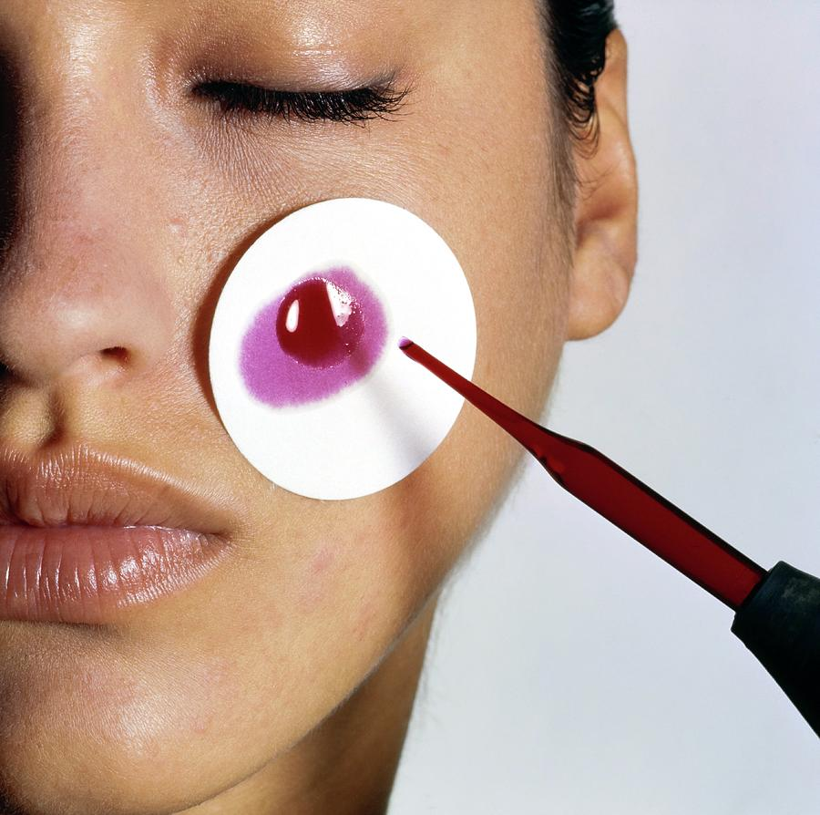 Revlon Moisturizer Skin Adherence Test Photograph by Arthur Elgort