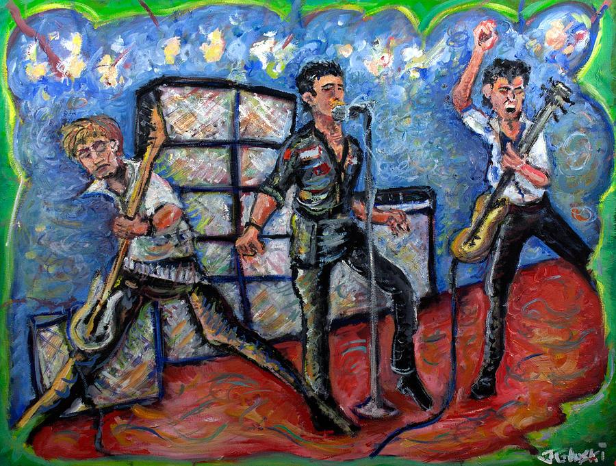 The Clash Painting - Revolution Rock The Clash by Jason Gluskin