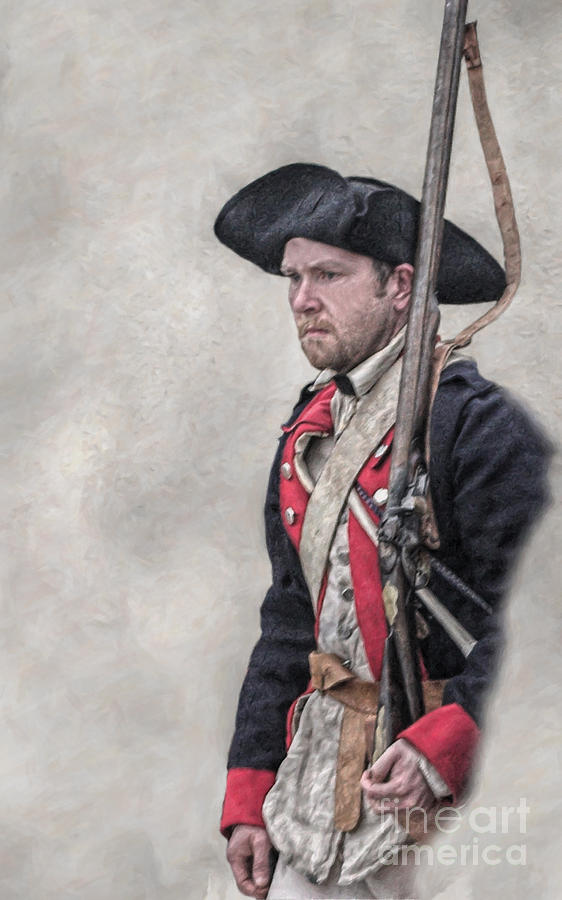 Uniform Digital Art - Revolutionary War American Soldier Two by Randy Steele