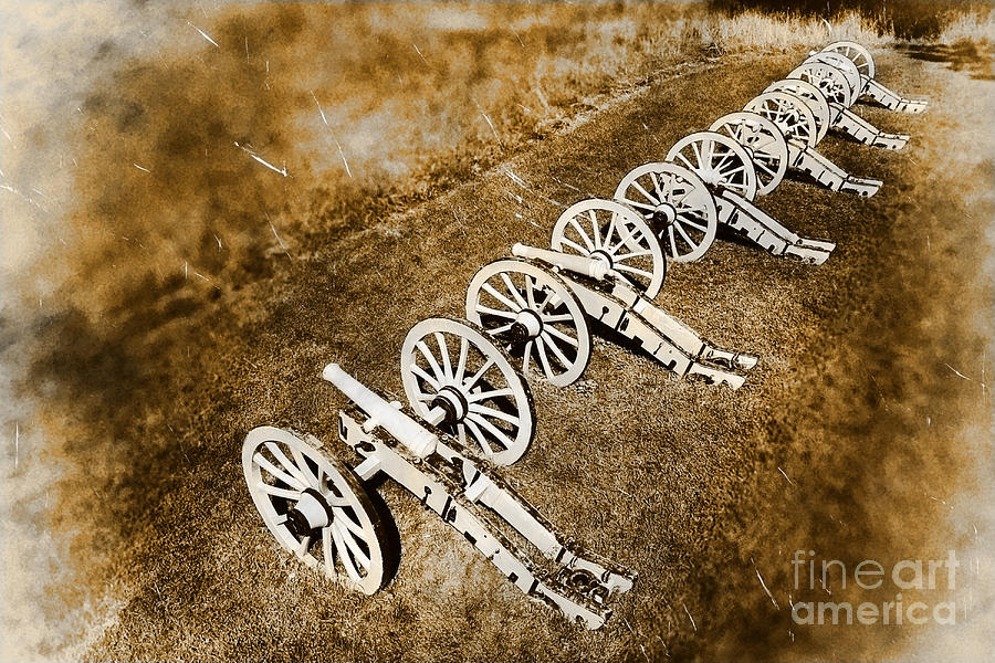 Cannon Photograph - Revolutionary War Cannons by Olivier Le Queinec