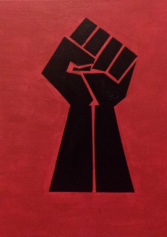 Fist Painting - Revolutionist Fist  by Donald Beasley