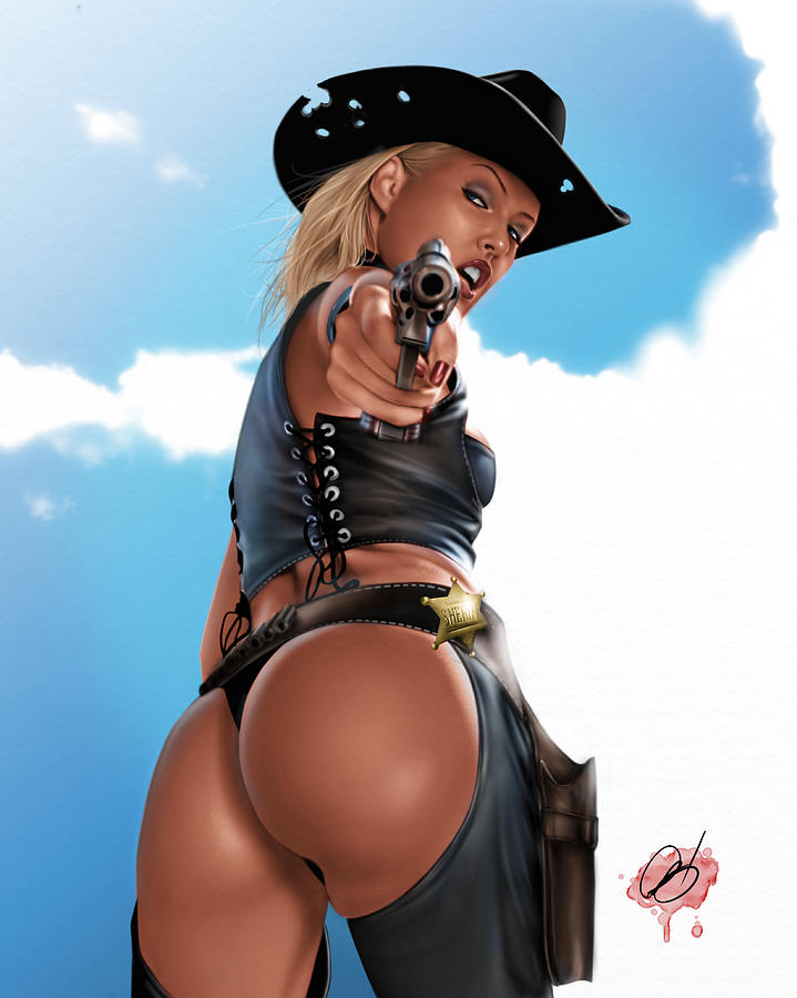 Sophie Painting - Revolver by Pete Tapang