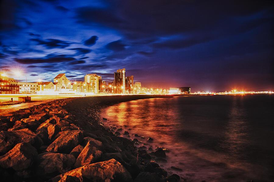 Reykjavik At Night Photograph by Craig Brown