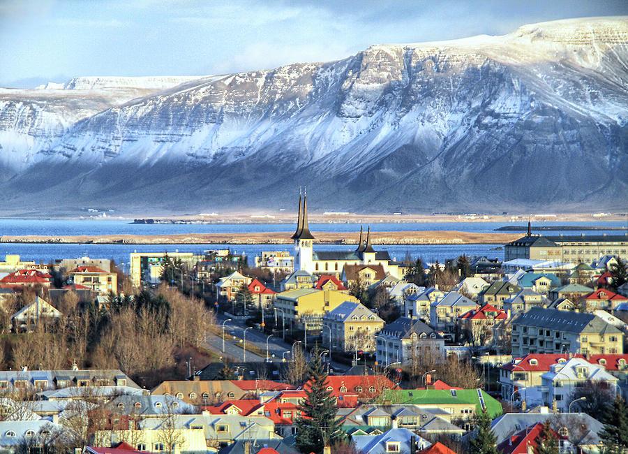 Reykjavik Cityscape In Iceland Photograph by L. Toshio Kishiyama