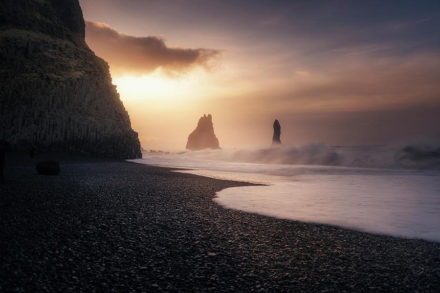 Iceland Photograph - Reynisfjara Sunrise by Jorge Ruiz Dueso