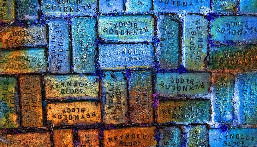 Blocks Painting - Reynolds Blocks - Vintage Art By Sharon Cummings by Sharon Cummings