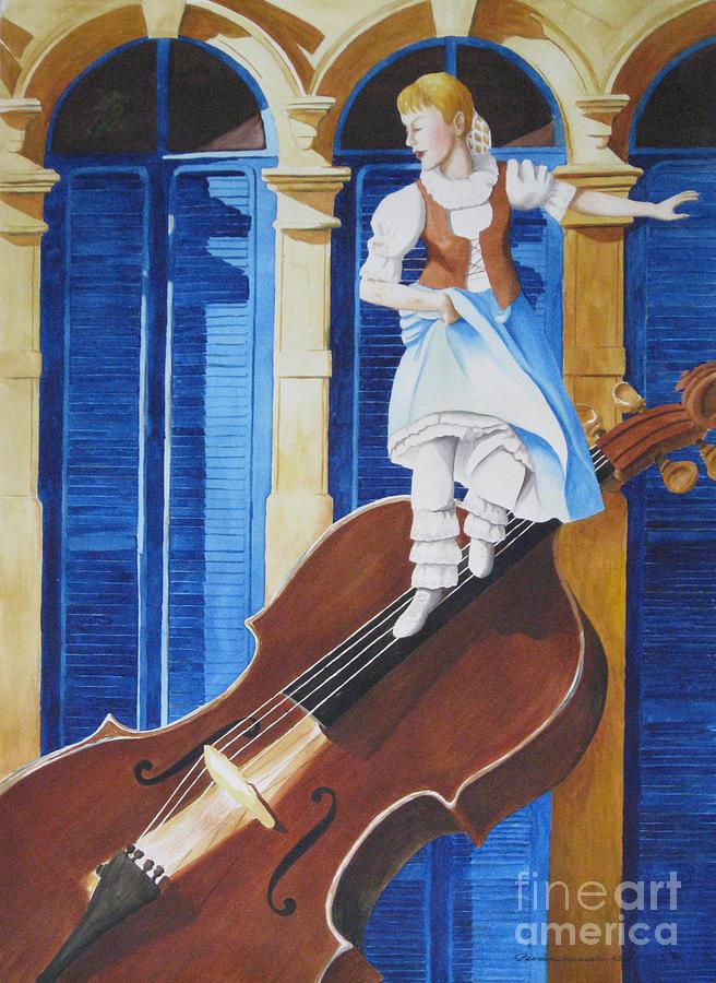 Viola Painting - Rhapsody In Blue by Parrish Hirasaki