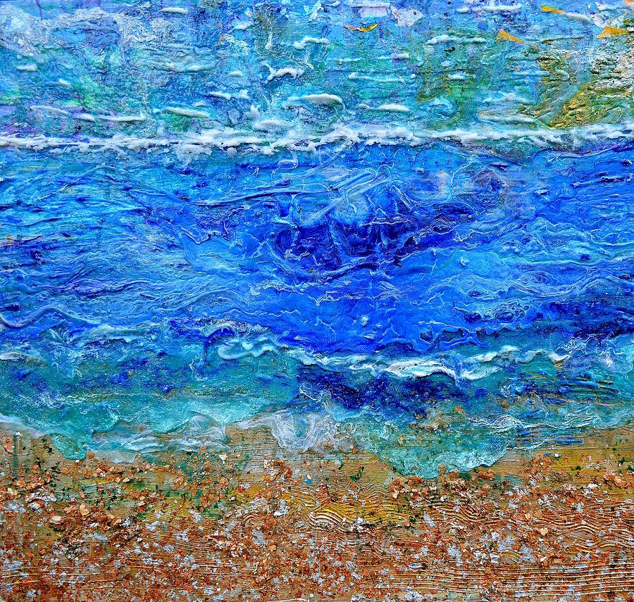 Sea Painting - Rhapsody On The Sea Square Crop by Regina Valluzzi