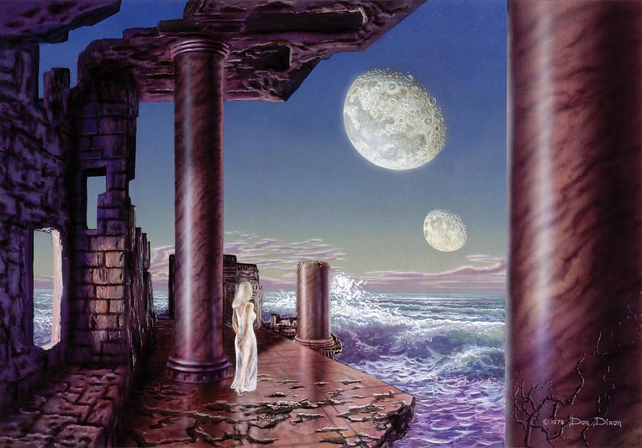 Science Fiction Painting - Rhiannon by Don Dixon